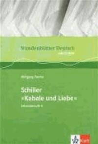 Stundenblätter Deutsch. Friedrich Schiller: Kabale und Liebe. mit CD-ROM.