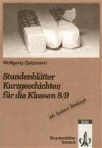 Stundenblätter Kurzgeschichten für die Klassen 8./9.