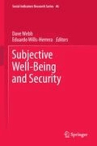 Dave Webb - Subjective Well-Being and Security.