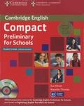 Sue Elliott et Amanda Thomas - Compact Preliminary for Schools - Student's Pack 2 volumes. 1 Cédérom