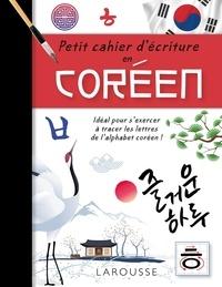 Sunmi Jang - Petit cahier d'écriture en coréen.