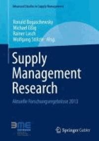 Supply Management Research - Aktuelle Forschungsergebnisse 2013.