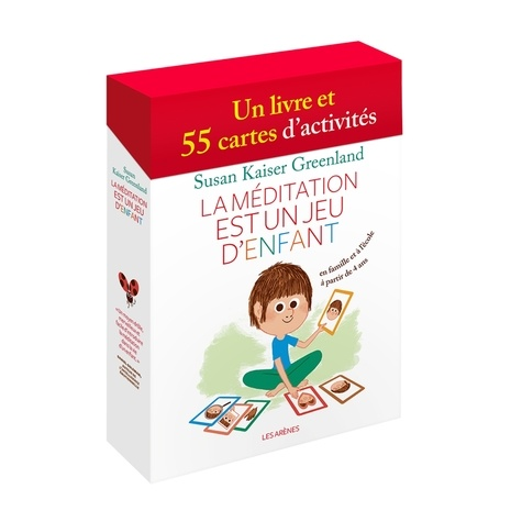 La méditation est un jeu d'enfant. Coffret avec un livre et 55 cartes d'activité