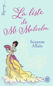 Suzanne Allain - La liste de Mr Malcolm.