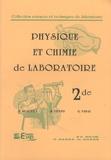 Suzanne Beaufils et René Vento - Physique et chimie de laboratoire 2de.