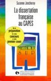 Suzanne Laborie-Joncheray - La dissertation française au CAPES.