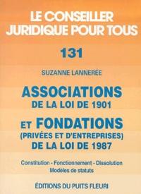 Associations de la loi de 1901 et fondations (privées et dentreprises) de la loi de 1987 - Constitution, fonctionnement, dissolution, modèles de statuts, 5ème édition.pdf