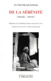 "Svami Prajnanpad et Frédérick Leboyer - De la sérénité - ""Ananda-Amrita""."