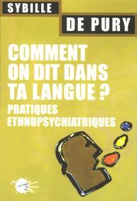 Sybille de Pury - Comment on dit dans ta langue ? - Pratiques ethnopsychiatrique.