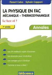 Deedr.fr La physique en fac Mécanique - Thermodynamique 1ère année. - Annales Image