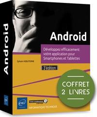 Sylvain Hébuterne - Android. Développez efficacement votre application pour Smartphones et Tablettes - Coffret en 2 volumes : Guide de développement d'applications Java pour smartphones et tablettes ; Programmation en Java sous Android Studio.