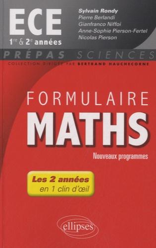 Sylvain Rondy - Formulaire Maths ECE 1re et 2e.