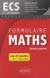 Sylvain Rondy - Formulaire Maths ECS 1re et 2e années.