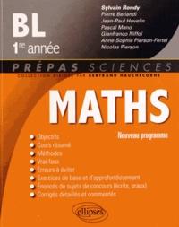 Sylvain Rondy - Mathématiques BL-1e année - Nouveau programme.