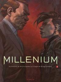 Sylvain Runberg et  Man - Millénium Tome 3 : La fille qui rêvait d'un bidon d'essence et d'une allumette - Première partie.