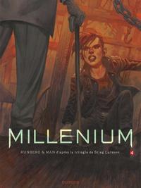 Sylvain Runberg et  Man - Millénium Tome 4 : La fille qui rêvait d'un bidon d'essence et d'une allumette - Seconde partie.