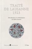 Sylvie Arsever - Traité de Lausanne 1923.