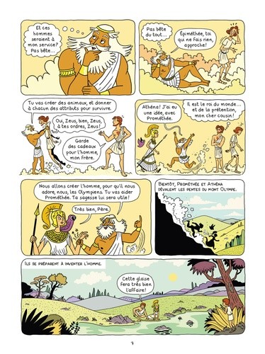 La mythologie en BD  Prométhée