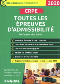 Sylvie Bernard et Vincent Carillion - CRPE - Toutes les épreuves d'admissibilité.