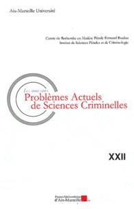 Les nouveaux problèmes actuels de sciences criminelles - Sylvie Cimamonti |