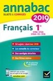 Sylvie Dauvin et Jacques Dauvin - Annales Annabac 2019 Français 1re STMG, STI2D, STD2A, STL, ST2S - sujets et corrigés du bac Première séries technologiques.