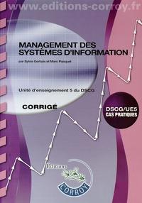 Management des systèmes d'information UE 5 du DSCG- Corrigé - Sylvie Gerbaix | Showmesound.org