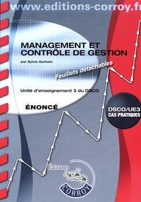 Sylvie Gerbaix - Management et contrôle de gestion UE 3 du DSCG.