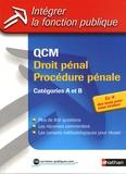 Sylvie Grasser - QCM Droit pénal, procédure pénale - Catégories A et B.