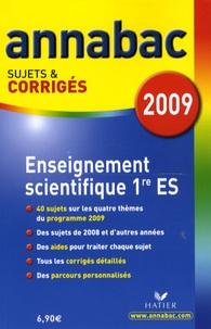 Sylvie Guérin-Bodeau - Enseignement scientifique 1e ES - Sujets et corrigés.