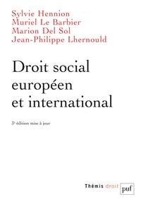 Sylvie Hennion et Muriel Le Barbier-Le Bris - Droit social européen et international.