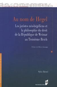 Sylvie Hürstel - Au nom de Hegel - Les juristes néo-hégéliens et la philosophie du droit de la République de Weimer au Troisième Reich.