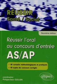 Sylvie Laurenson et Danielle Vilchien - Réussir l'oral au concours d'entrée AS/AP.