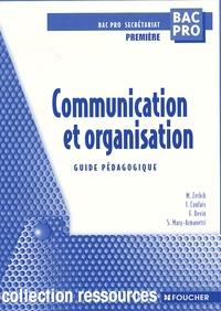 Openwetlab.it Communication et organisation 1ère Bac pro secrétariat. - Guide pédagogique Image