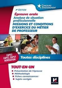 Sylvie Pierre - Missions et conditions d'exercice du métier de professeur - Epreuve orale Toutes disciplines CAPES CAPET CAPLP Agrégation.