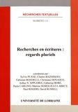 Sylvie Plane - Recherches en écritures : regards pluriels.