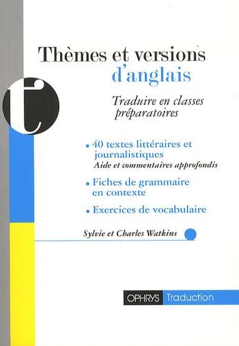 th u00e8mes et versions d u0026 39 anglais - traduire en     sylvie watkins - decitre - livre