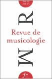Société Française Musicologie - Revue de musicologie Tome 102 N° 1 (2016) : .