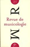 Anne-Sylvie Barthel-Calvet et Vincent Tiffon - Revue de musicologie Tome 98, N° 1 (2012) : .