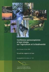 Deedr.fr Conférence paneuropéenne à haut niveau sur l'agriculture et la biodiversité - Recueil des rapports de base Image
