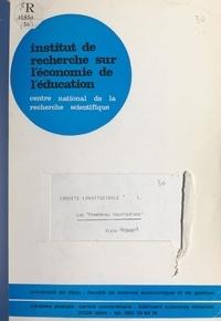 T. Dieu et Alain Mingat - Enquête longitudinale (1). Les premières inscriptions.