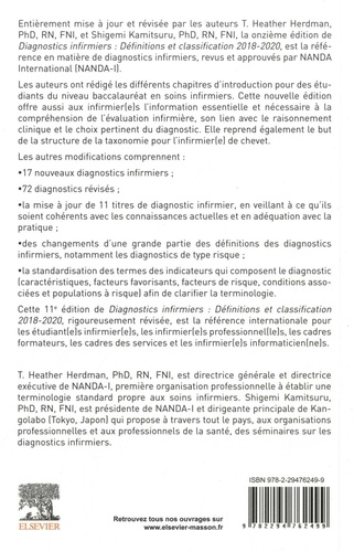 Diagnostics infirmiers. Définitions et classification  Edition 2018-2019