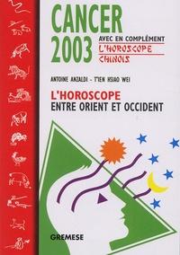 Histoiresdenlire.be Cancer. L'horoscope 2003 entre Orient et Occident Image