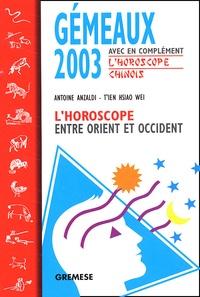 Galabria.be Gémeaux 2003. L'horoscope entre Orient et Occident Image