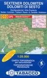 TABACCO - Sextener Dolomiten Dolomiti di sesto - 1/25 000.