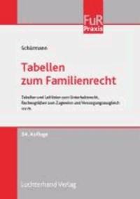 Tabellen zum Familienrecht - Tabellen und Leitlinien zum Unterhaltsrecht, Rechengrößen zum Zugewinn und Versorgungsausgleich u.v.m..