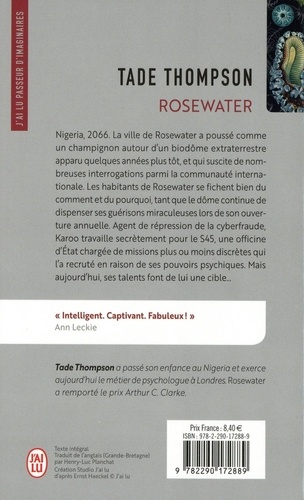 Rosewater Tome 1