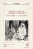 Taïeb Davis et Hannah Bekkar - Espaces publics, paroles publiques au Maghreb et au Machrek.