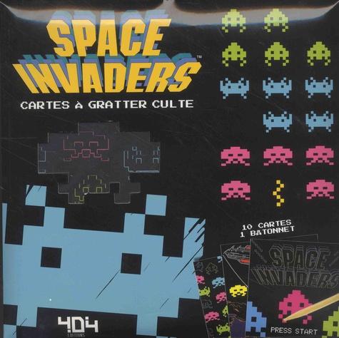 Taito Corporation - Space Invaders - Cartes à gratter culte, avec 10 cartes et 1 bâtonnet.