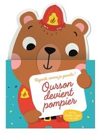 Tam Tam Editions - Ourson devient pompier - Un livre réversible à déplier + une toile !.