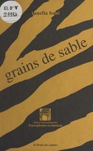 Tanella S. Boni - Grains de sable - Poèmes.